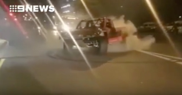 A former NASCAR driver's burnout just landed him in big trouble