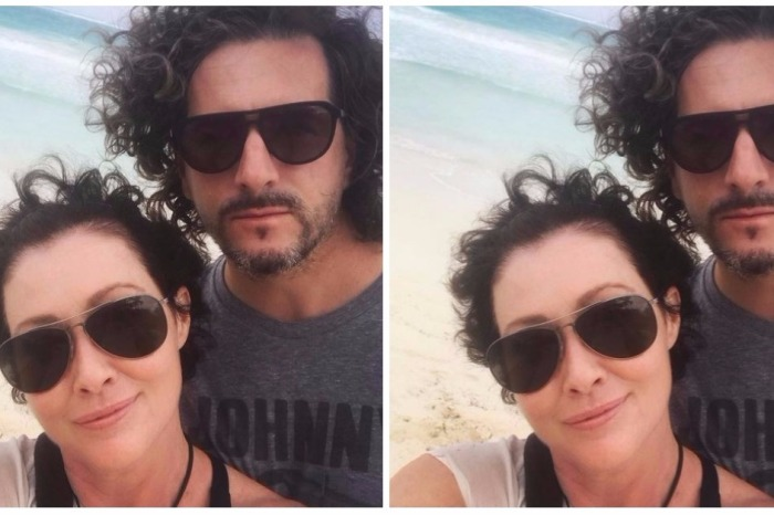 Curly hair, don't care! Shannen Doherty shows off her growing hair two months after going into remission