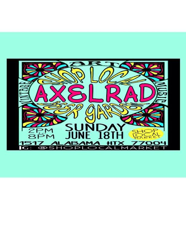 Shop Local will take over Axelrad on Sunday, June 18