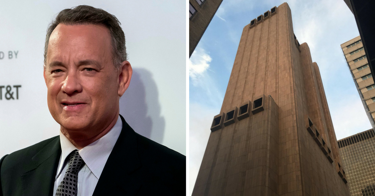 Tom Hanks just snapped a photo of the creepiest building in America, and everyone is losing it