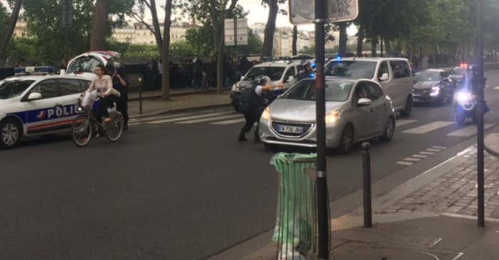 Gunshots ring out in Paris after reports surface that a man attacked a police officer