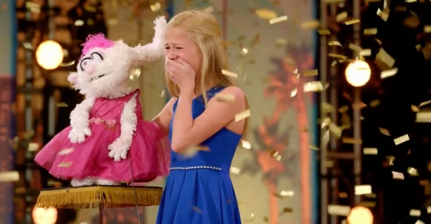 "This little girl's singing ventriloquist act blew away the ""America's Got Talent"" judges"