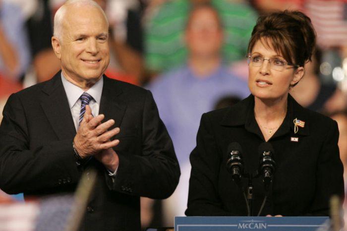 Sarah Palin praised John McCain's character while she spoke of his tragic diagnosis
