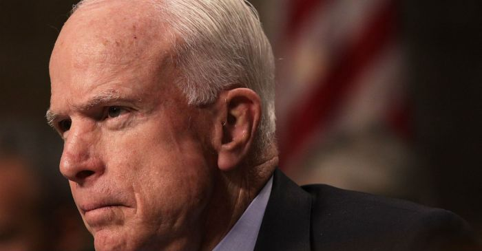 McCain wants caution before rushing health care. He should do that with foreign policy