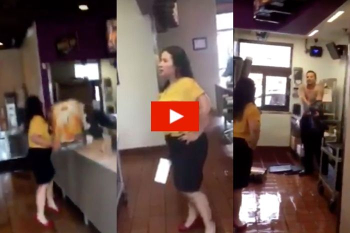 Former Taco Bell Employee Throws Tea Dispenser at Shirtless Manager