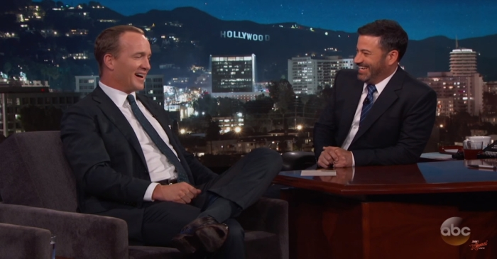 "Peyton Manning tells Jimmy Kimmel that it would have been ""un-American"" to turn down President Trump's golf invitation"