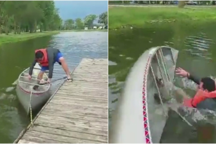 The cruel canoe claims the dignity of another unsuspecting human victim