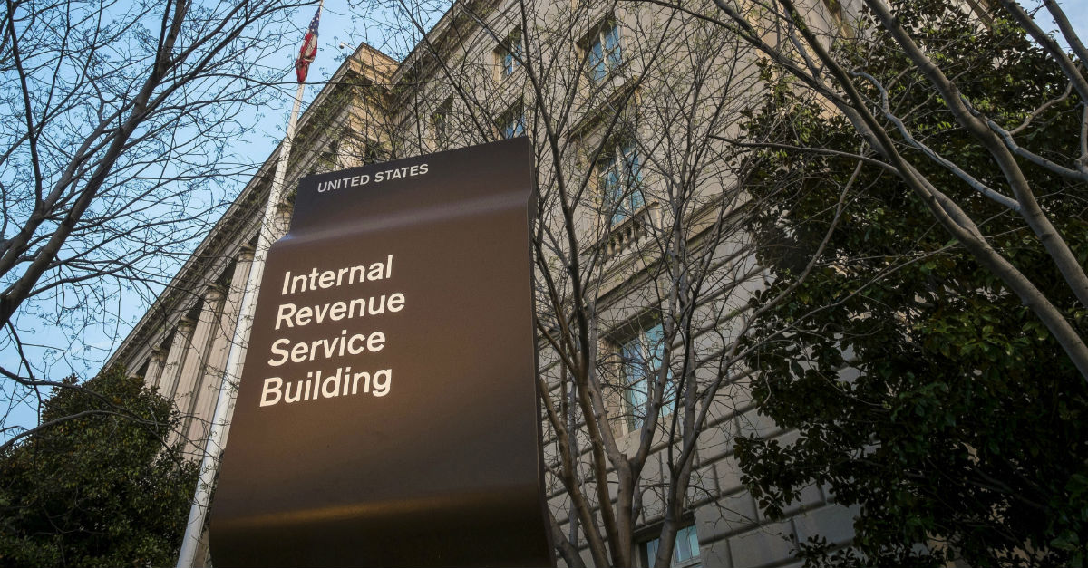 A 68-year-old man is in custody after he mailed a fake bomb and a real body part to the IRS