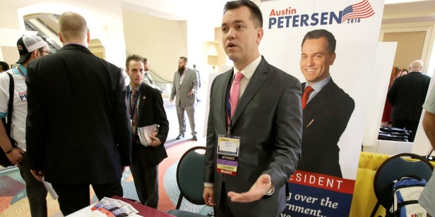 Former Libertarian presidential candidate Austin Petersen joins the Republican Party to run for U.S. Senate