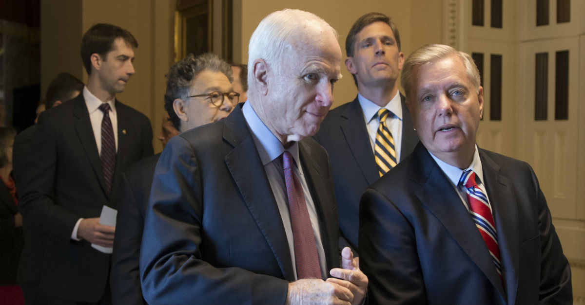 "A somber Lindsey Graham says he spoke to his friend John McCain — ""This disease has never had a more worthy opponent"""