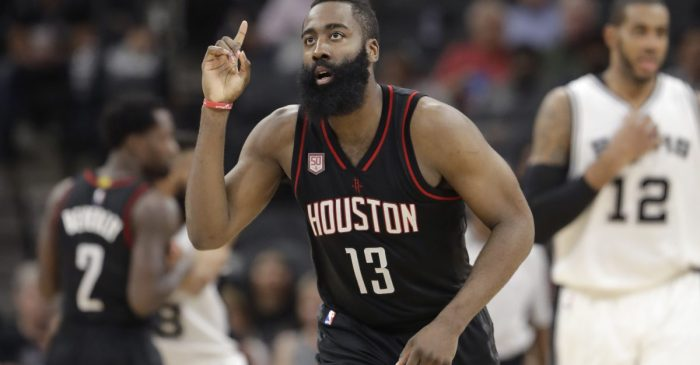 James Harden's jersey now hangs proudly in the halls of one of Houston's finest institutions