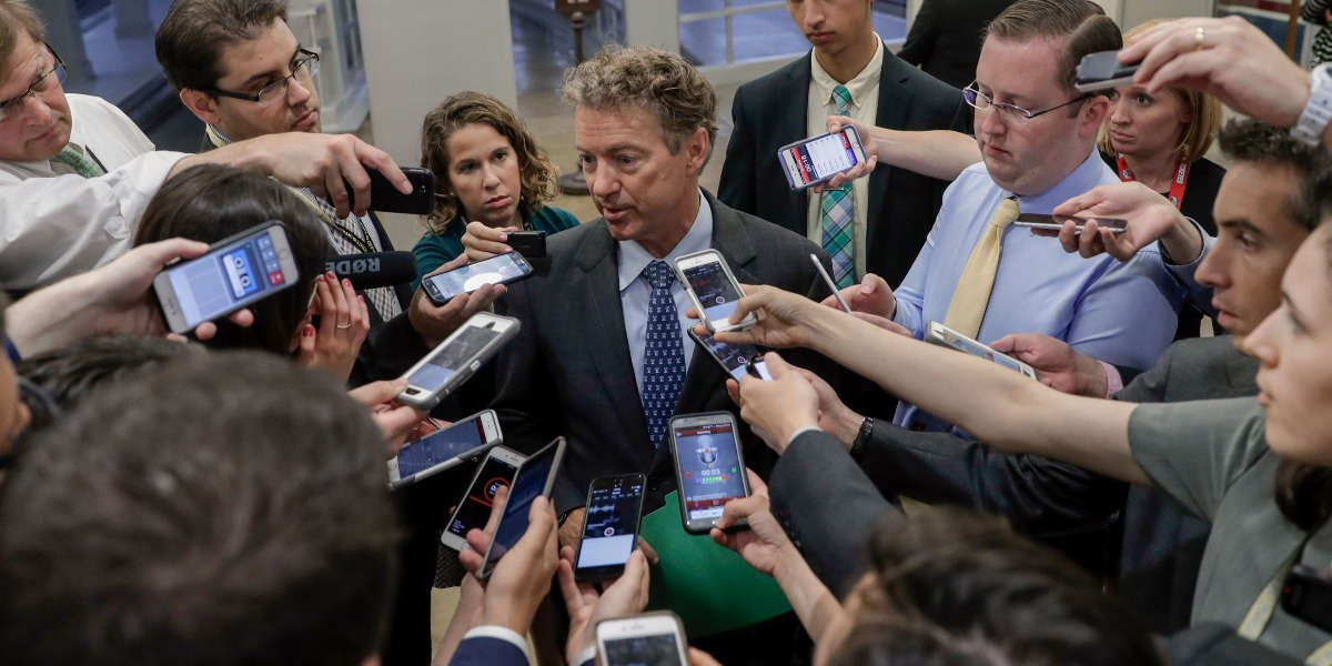 Rand Paul has an idea for affordable health care that will also cover pre-existing conditions if the idiots in Washington would just listen