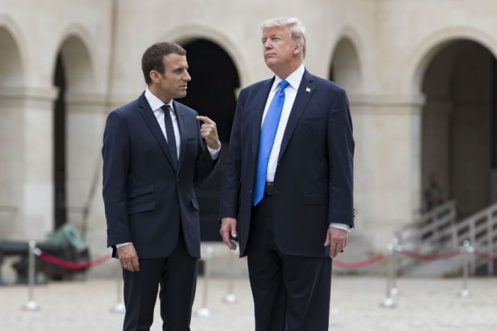 Donald Trump heads to Paris with the cloud of Don Jr. hanging over his head