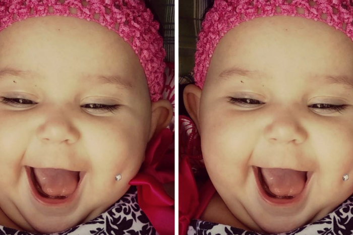 "Mom Receives Death Threats After Sharing A Picture Of Her Baby's ""Pierced"" Cheek"