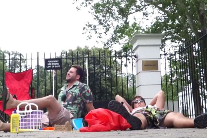 Chris Christie cancelled their beach day, so they had one at his house