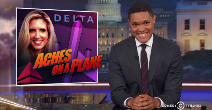 "Trevor Noah has a laugh at Ann Coulter's expense: ""She's basically the airplane Rosa Parks"""
