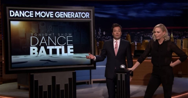 """Charlize Theron and Jimmy Fallon went head-to-head in a hilariously weird """"Dance Battle"""""""
