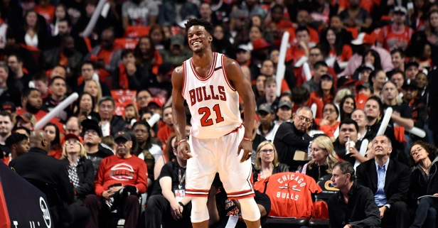 Because he's a gem and model NBA player, Jimmy Butler treated Bulls staffers to a final farewell dinner Sunday