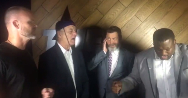 """Grandpa Rossy, Bill Murray, Anthony Adams, and Nick Offerman sing """"Go, Cubs, Go"""" at ESPY Awards"""