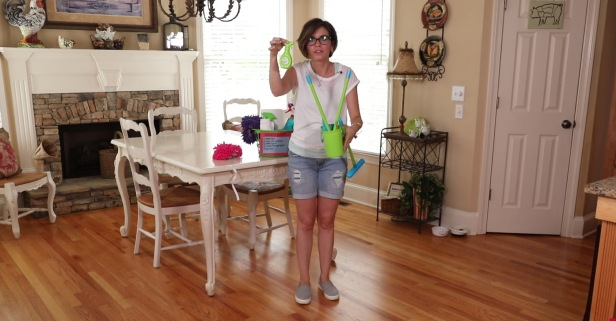 She convinces her kids that cleaning is fun by turning their chores into games