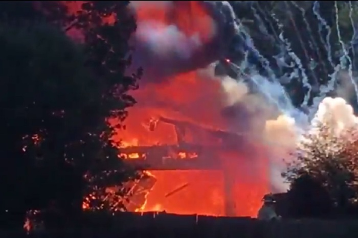 A Michigan man used a smoke bomb to calm the wasps in his garage and got an early Fourth of July fireworks show