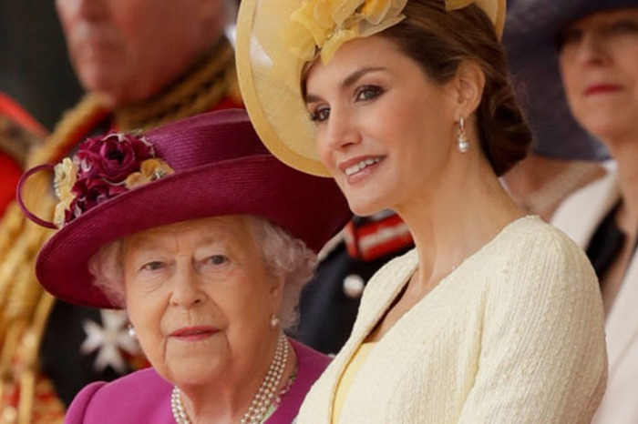 Queen Elizabeth II was the most noble hostess as she met Queen Letizia for the Spanish royals' first-ever state visit to the U.K.