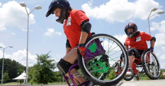 Wheelchair users find new challenges at local skate park
