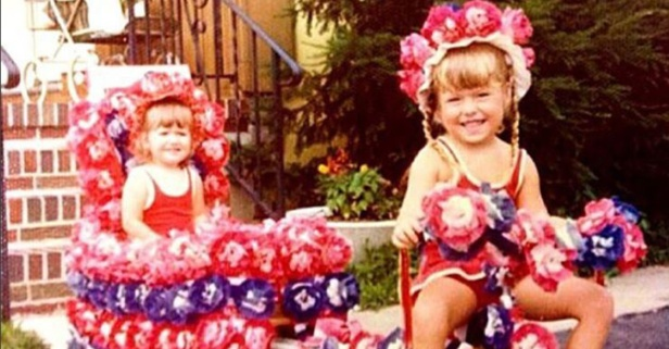 You will never guess who this little patriotic princess grew up to be