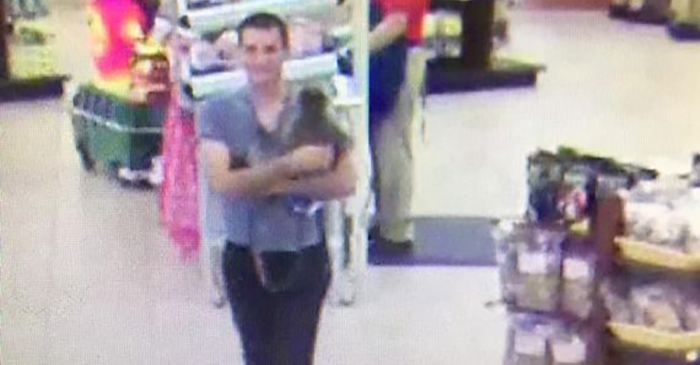 Police are on the lookout for a man and his monkey after the latter bit a girl in a convenience store