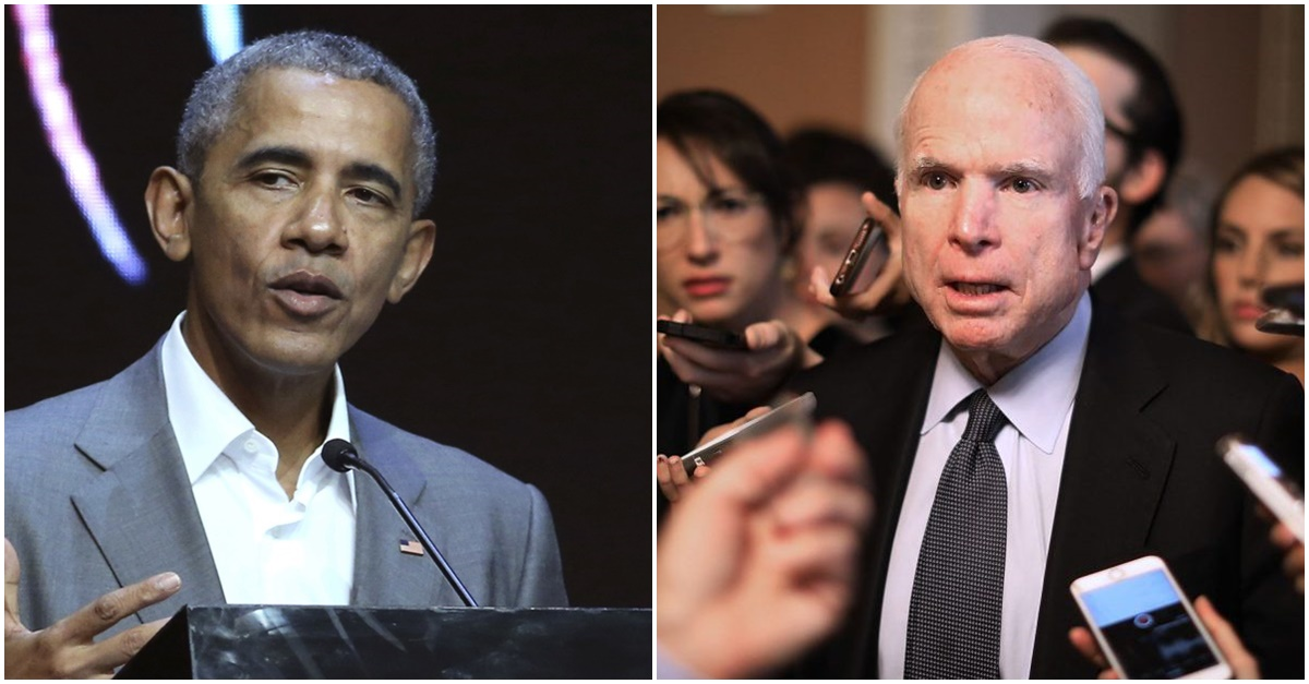Barack Obama sent encouragement and well-wishes to John McCain after his cancer diagnosis