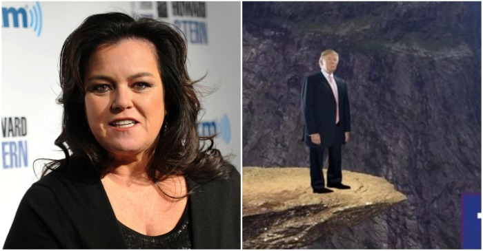 "Rosie O'Donnell tweeted out a link to a ""Push Trump Off a Cliff"" game, and conservatives aren't happy about it"