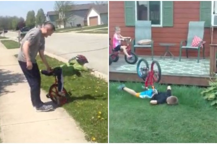 Whether it's people falling off bikes or unicycles, this compilation of cycling fails captures the best crashes