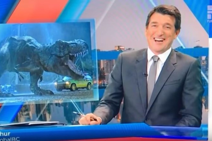 A news anchor completely messes up the name of this notable dinosaur in a hilarious news blooper