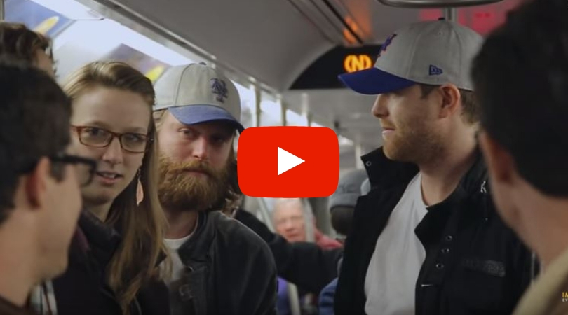 8 Identical Twins Pull an Epic Time Travel Prank on NYC Subway