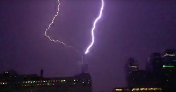 Slow things down, and check out this awesome video of lightning striking Willis Tower