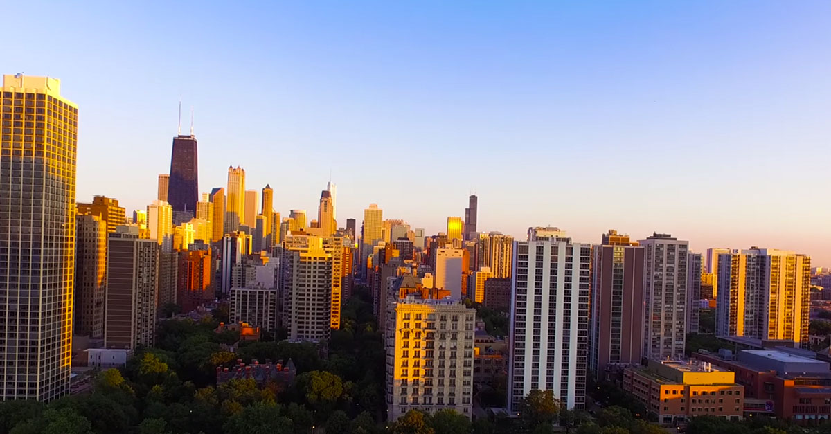 One look at the Chicago skyline from this drone angle and you know the Windy City is the best in the world
