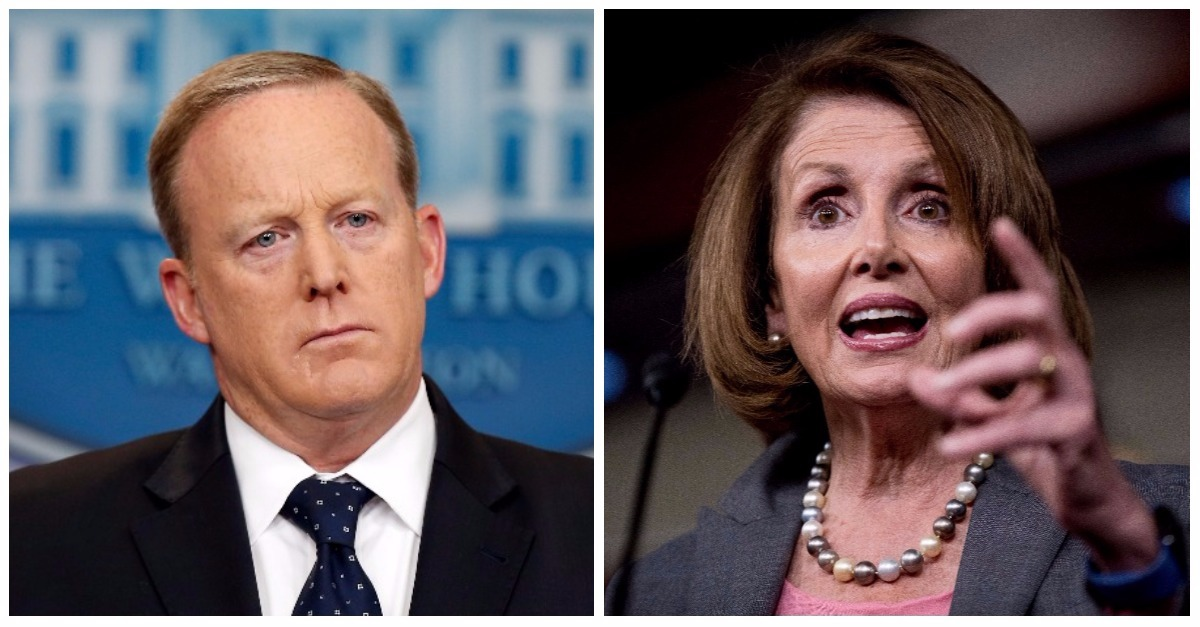 Nancy Pelosi responded to Sean Spicer's resignation with the most apathetic statement imaginable