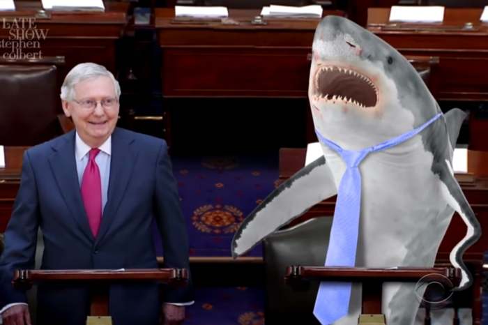 It's turtle vs. shark as Mitch McConnell takes on a great white to see who can pass a healthcare bill the fastest