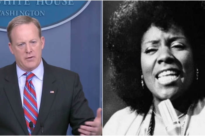 "Sean Spicer goes out with a bang and serenades the press corps with a rousing rendition of ""I Will Survive"" in this hysterical mash-up"