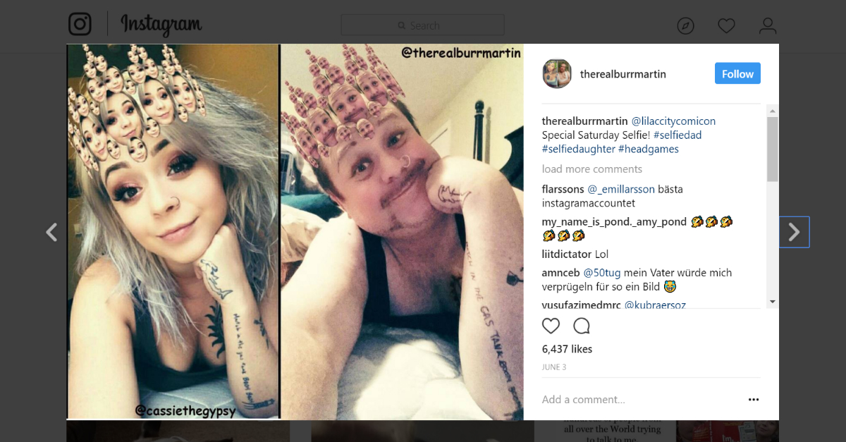 This dorky dad savagely mocked his daughter's selfie game with some incredibly accurate Instagram reenactments