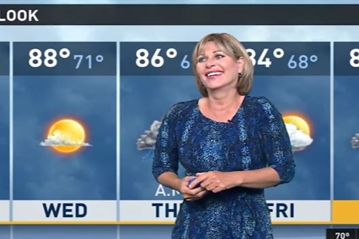 This weatherwoman couldn't keep it together after the anchorman made a comment that sounded very NSFW