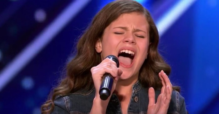 "Heidi Klum gave ""America's Got Talent's"" final Golden Buzzer of the season to this little girl with a big voice"