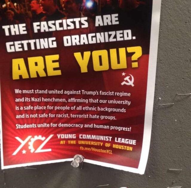 """The """"Young Communist League"""" is recruiting folks at the University of Houston — are you shocked?"""