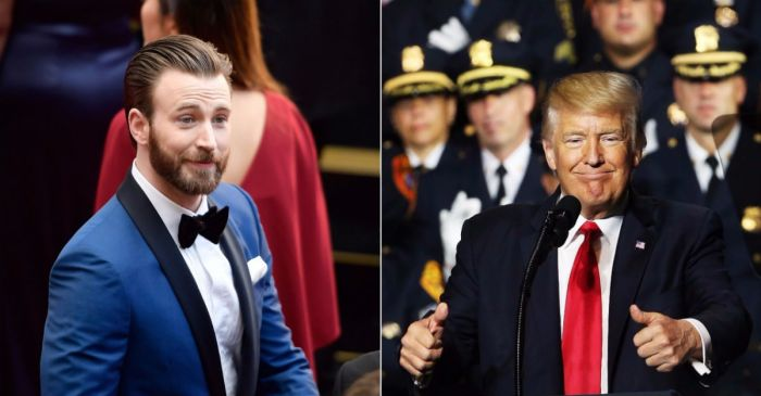 Chris Evans aired a few grievances after President Trump made a comment in support of police brutality
