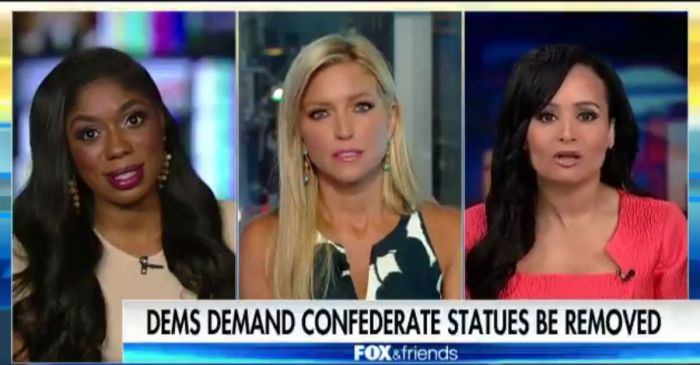 "Katrina Pierson causes an uproar in a Fox News panel after saying ""bad history is still good history"""