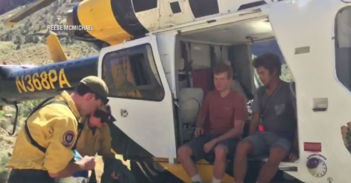 Two Florida teens are thankful for their rescue after getting lost in the Grand Canyon for 5 days