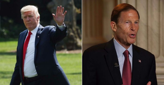 "Donald Trump and Richard Blumenthal throw down over a ""phony Vietnam con artist"" tweet"