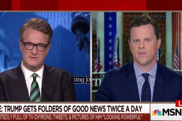 Joe Scarborough jests in support of President Trump's rumored daily positive news folder