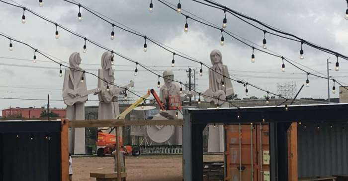 Houston's Eighth Wonder brewery has a few famous, concrete guests