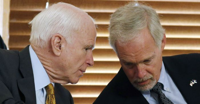 "One Republican Senator thinks John McCain's brain tumor ""may have factored in"" to his healthcare ""no"" vote"